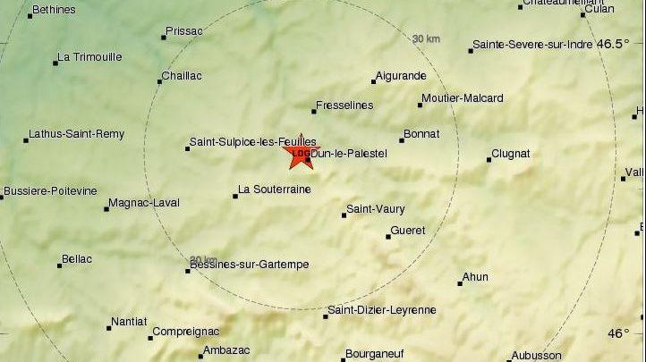 Un séisme a été ressenti cette nuit dans l'ouest de la Creuse