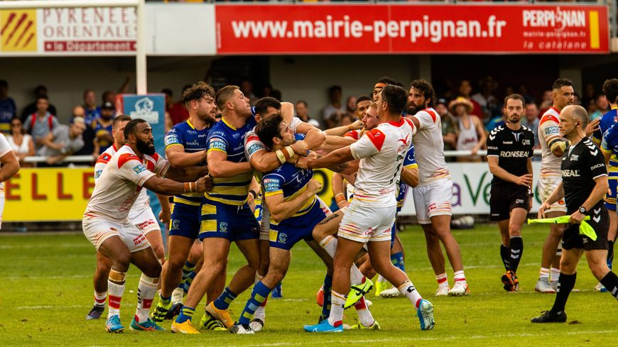 Bagarre entre Warrington et Dragons Catalans