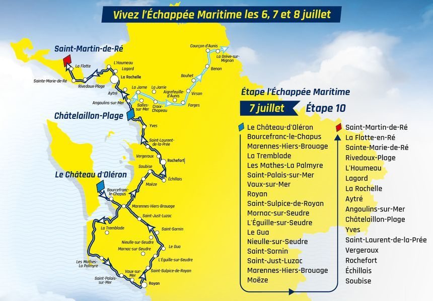 Une Etape Du Tour De France Entre Les Iles D Oleron Et De Re Quelque Chose D Unique Pour Christian Prudhomme