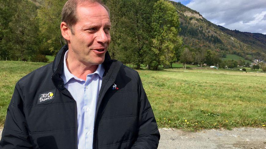 Christian Prudhomme, le directeur du Tour de France à Loudenvielle, ville arrivée en 2020.