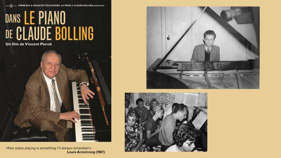 """""""Dans le piano de Claude Bolling"""" / Claude Bolling à 15 ans /  Claude Bolling avec Brigitte Bardot"""