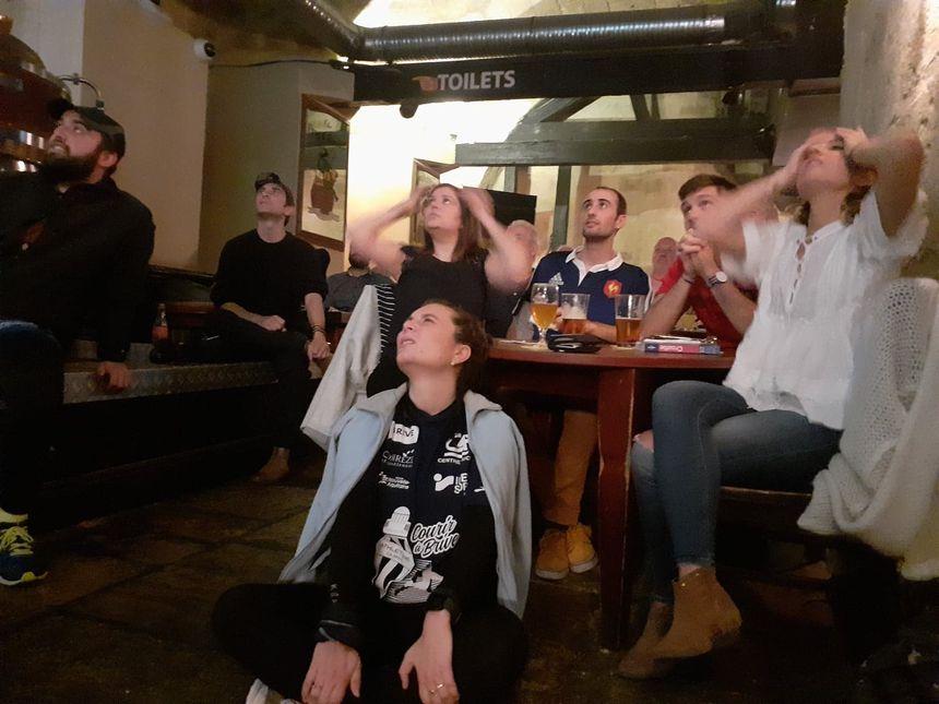 La frustration à quelques minutes de la fin du match !