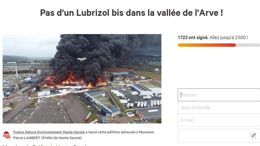 """En Haute-Savoie, le passage en site Seveso """"seuil haut"""" d'un entrepôt inquiète une association qui a lancé un pétition sur internet. (Capture d'écran)"""