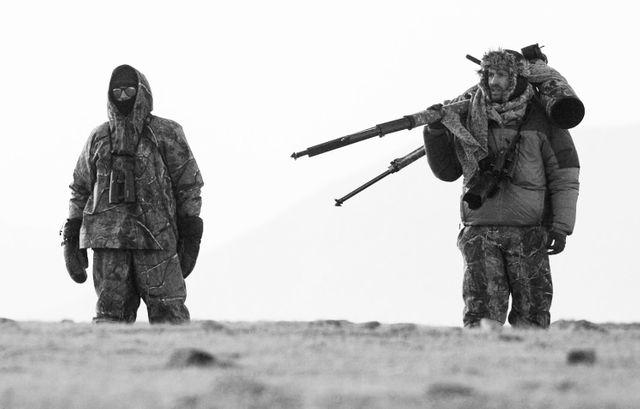 Sylvain Tesson et Vincent Munier au Tibet