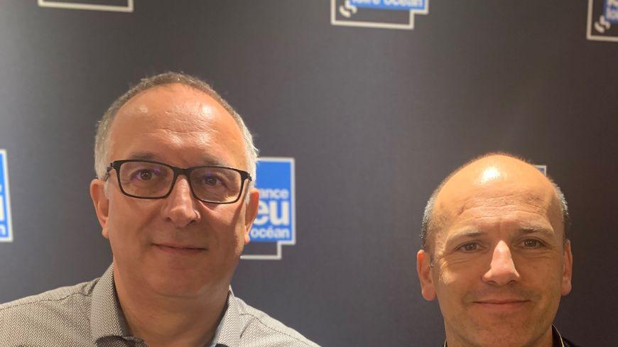"""Avec le chef David Bourmaud du restaurant """"petit saint thomas"""", jean marc loizeau directeur de Vendée qualité."""