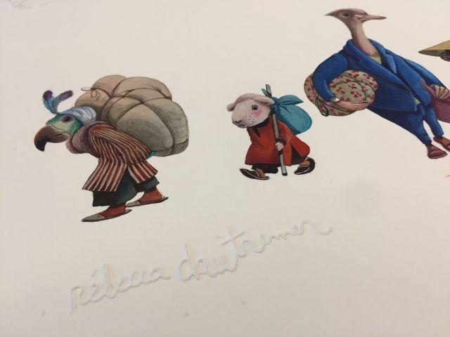 Les originaux de Rébecca Dautremer pour 'Midi pile - Une aventure de Jacominus Gainsborough'