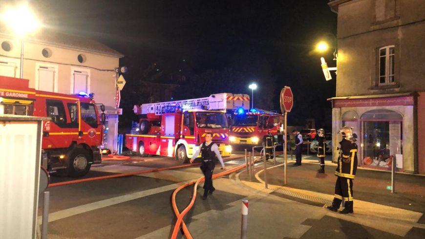 L'incendie a eu lieu avenue du Maréchal Foch à Labarthe-Rivière (capture d'écran Twitter)