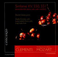 Symphonie n°40 en sol min K 550 : Allegro molto  - réduction pour flûte traversière violon violoncelle et piano - LUIGI LUPO