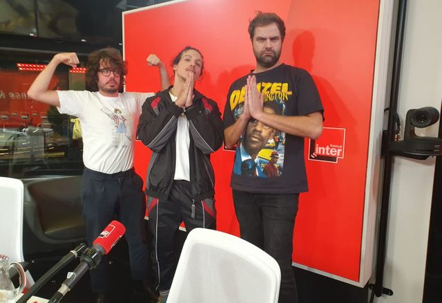 Éric et Quentin avec Rilès