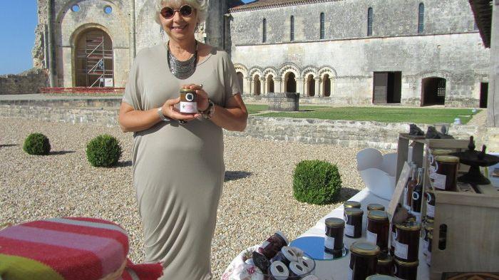 Martine Thomas à l'abbaye de Trizay.