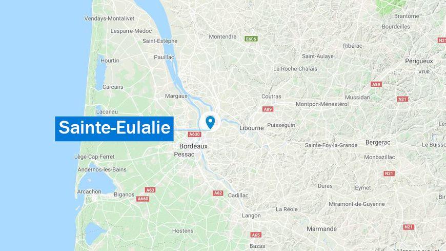 Sainte-Eulalie (carte de situation)