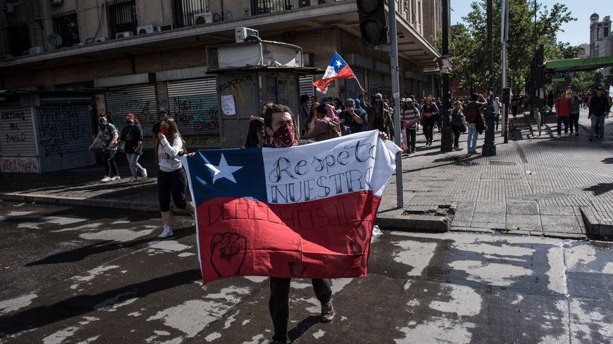 Manifestation à Santiago du Chili le 29 octobre 2019