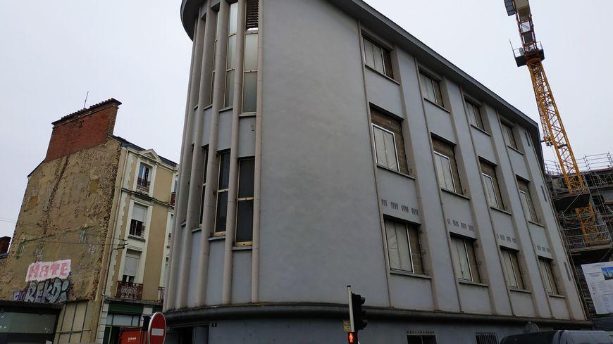 L'ancien central téléphonique qui va être réhabilité en résidence étudiante, rue Paul Courboulay