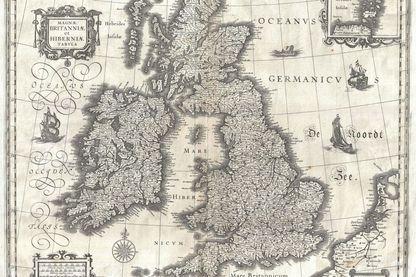 Carte des Îles Britanniques en 1631
