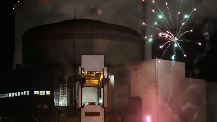 Les militants avaient réussi à tirer un feu d'artifice dans l'enceinte de la centrale de Cattenom