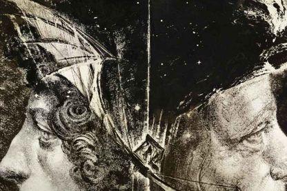 """Extrait de la couverture """"Léonard 2 Vinci"""" de Stéphane Levallois (Futuropolis & Louvre Editions)"""