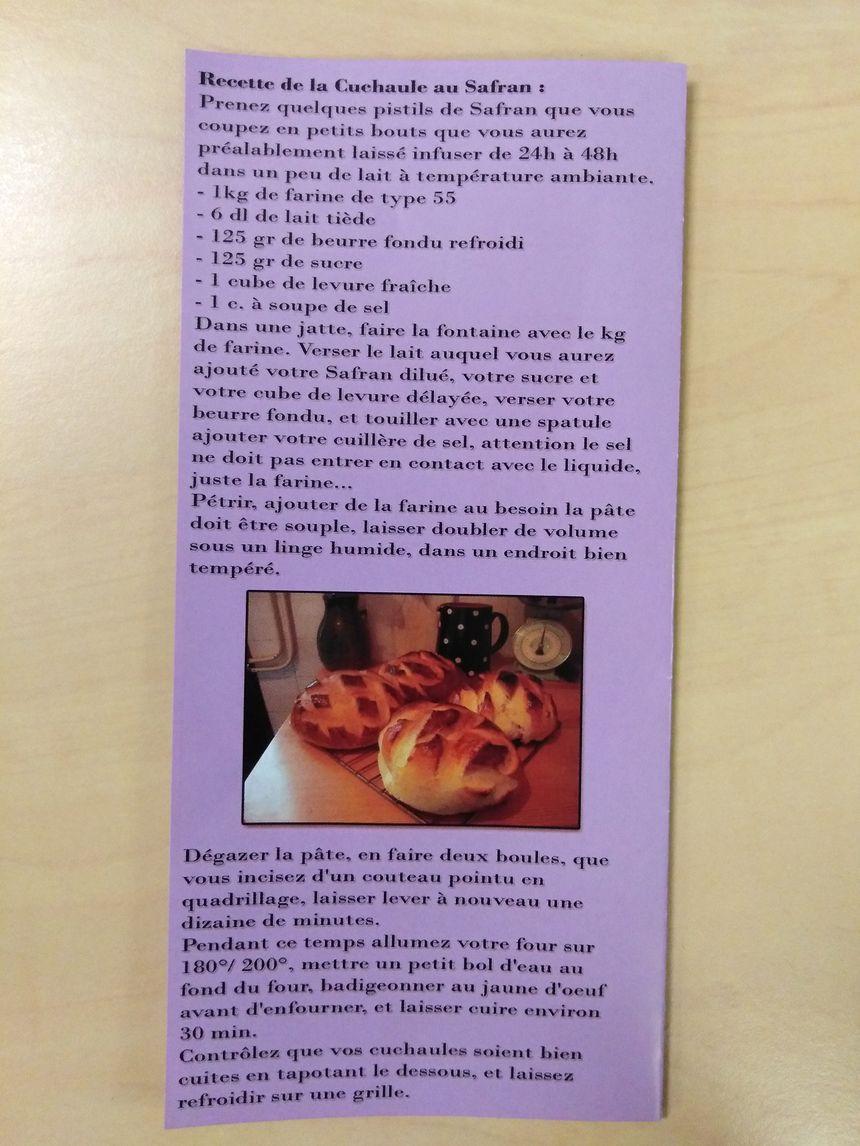 Recette de la cuchaule au safran, inventée par Natacha Werro