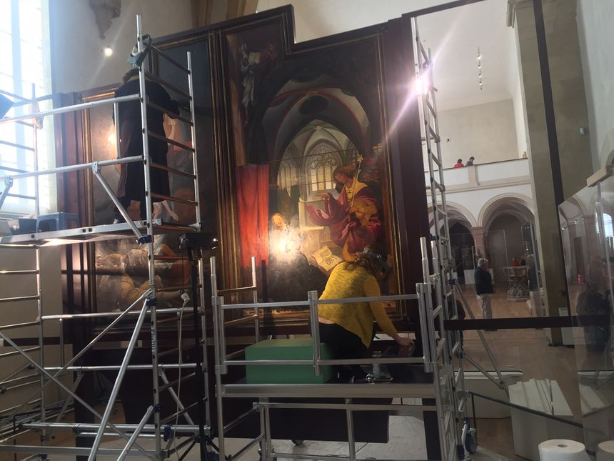 Les panneaux peints sont restaurés au musée Unterlinden