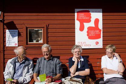 A Stockholm, les pensionnés courtisés lors des élections législatives en 2010