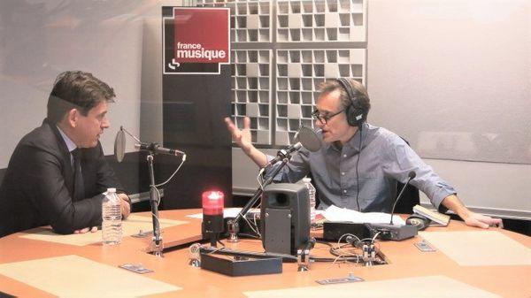 France Musique, studio 361... Sylvain Fort & Philippe Venturini (g. à d.)