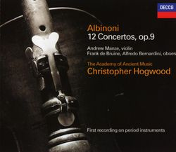 Concerto a 5 en Fa Maj op 9 n°3 : Allegro - pour 2 hautbois et orchestre - ALFREDO BERNARDINI