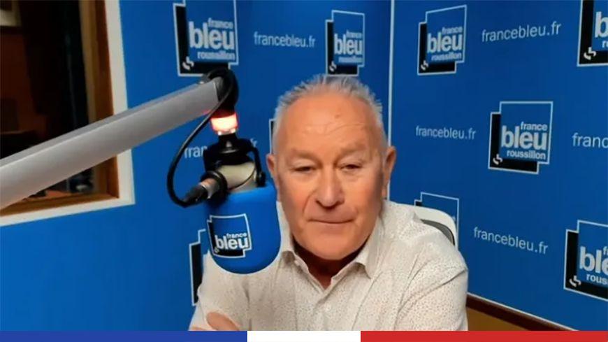 Alain Got ce lundi dans les studios de France Bleu Roussillon