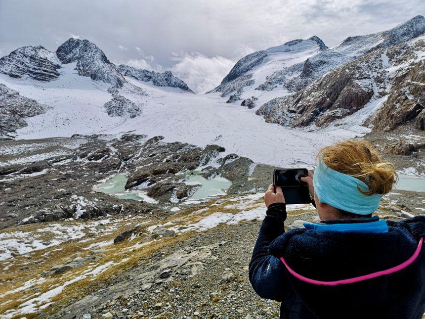 La photo a été prise en 2019 ; en 2005, les lacs étaient recouverts d'une épaisse couche de glace