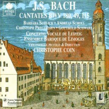 CD Bach Cantates Ensemble baroque de Limoges Christophe Coin