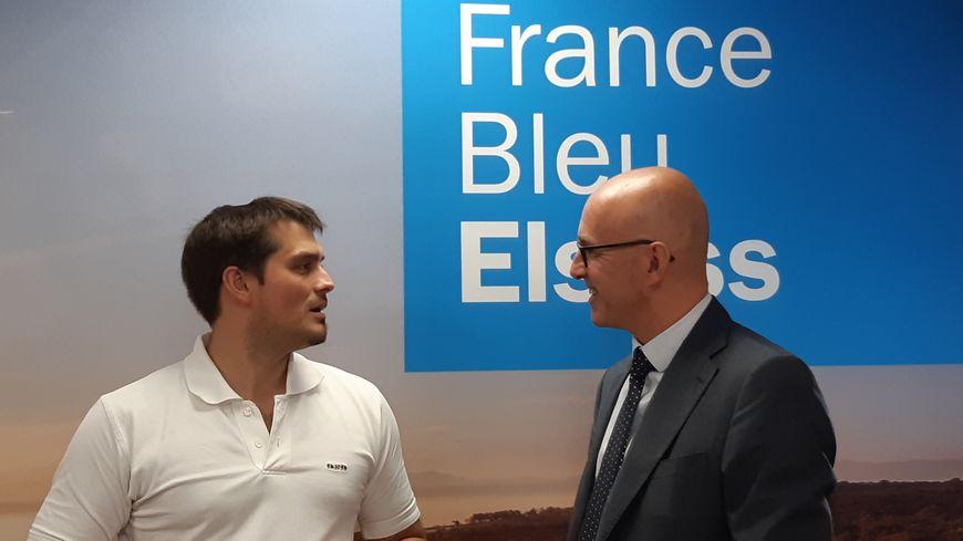 Avec Frédéric Bierry (à droite)