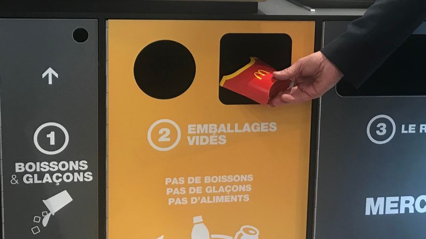Les nouvelles poubelles sont en place depuis un mois dans plusieurs restaurants de la région brestoise