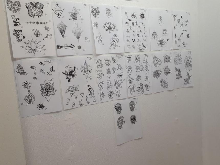 Le type de dessin que peut faire la tatoueuse Amélie Gauthier dans son salon à La Flèche