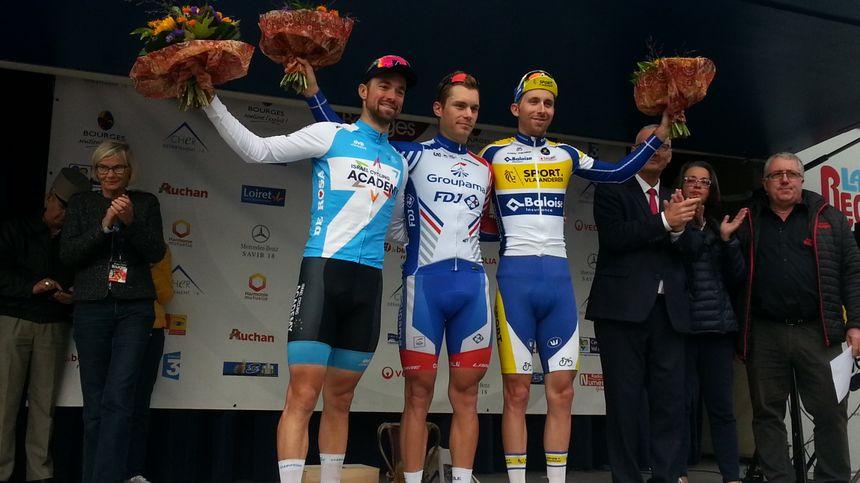 Le podium 2019 de Paris/Bourges : Marc Sarreau entouré de Tom Van Asbroeck et Amaury Capiot.