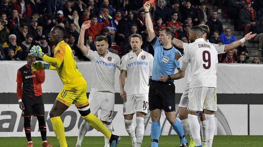 L'expulsion du gardien rennais Edouard Mendy dès la 6e minute