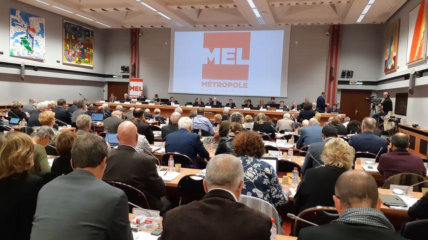 Réunion du conseil métropolitain de Lille