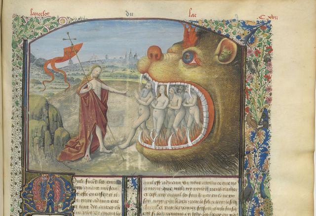 """Extrait du manuscrit de """"Lancelot"""" (édité entre 1400 et 1500), consultable sur Gallica.fr"""
