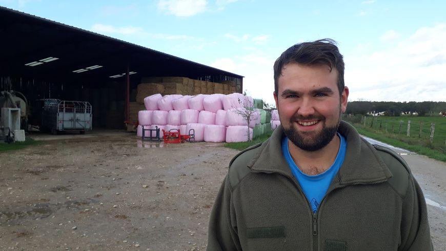 Gérald Pichot, président des Jeunes agriculteurs de Haute-Saône, est éleveur de vaches bio à Bouhans-lès-Lure.
