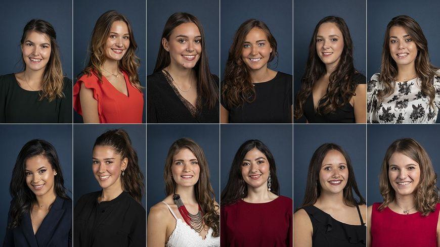 Les douzes candidates en lice pour devenir la prochaine Miss Auvergne