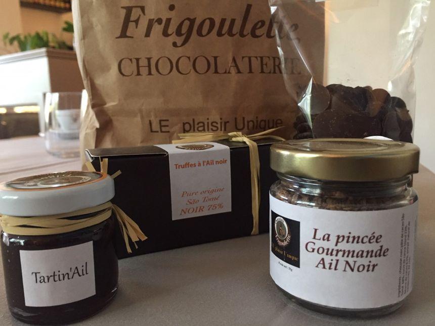 """Spécialités de la Chocolaterie """"Frigoulette"""" dont le délicieux chocolat """"à la rose"""""""
