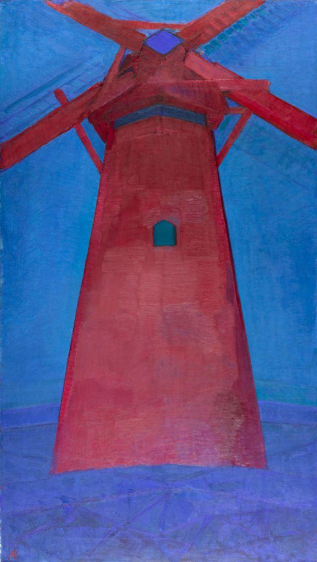 Piet Mondrian – Moulin – 1911 – Huile sur toile – 150 x 86 cm à voir au Musée Marmottan-Monet jusqu'au 26 janvier 2020.