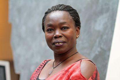 """Fatou Diome, auteure de """"Les veilleurs de Sangomar"""" (Albin-Michel) à Strasbourg le 20 juin 2017."""