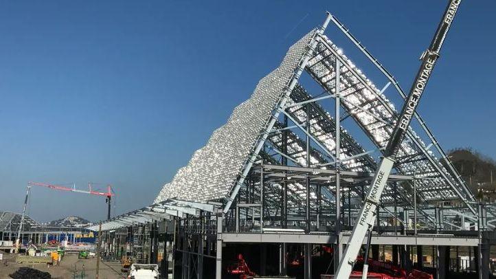 Le chantier de Steel est toujours en cours, l'ouverture est prévue en avril 2020.