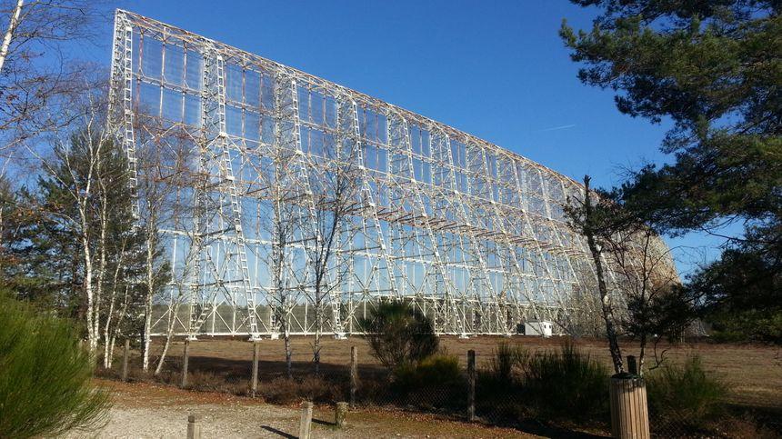Le radiotélescope installé à la création de la station de radioastronomie de Nançay