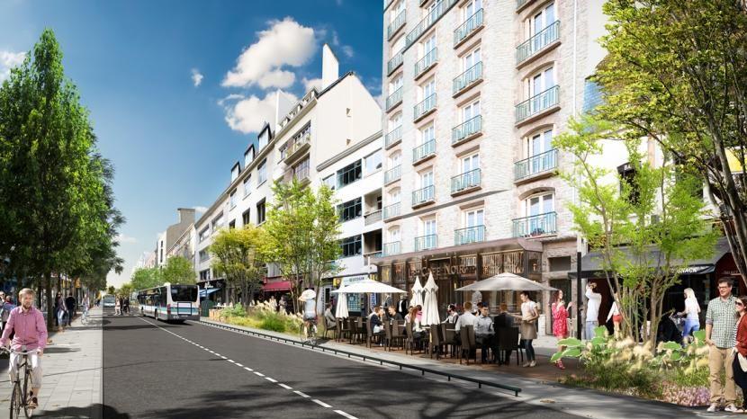 La nouvelle physionomie de l'avenue Janvier à Rennes