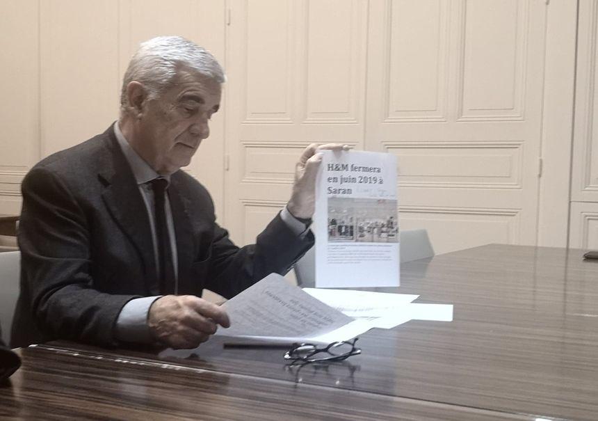 Gérard Trémège, lors de sa conférence de presse jeudi soir a tenu à montrer que la fermeture du magasin de Tarbes n'était pas un cas isolé.