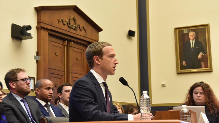 Marc Zuckerberg devant le Congrès américain mercredi 23 octobre 2019.