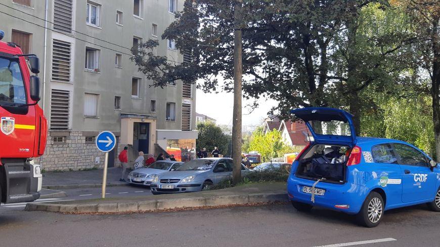L'explosion a eu lieu au 1er étage d'un immeuble d'habitation à Besançon