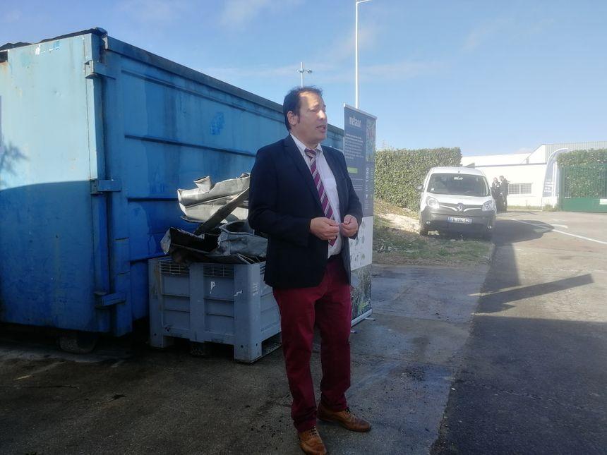 """Hervé Dez, directeur régional de Suez Recyclage & Valorisation en Bourgogne-Franche-Comté pour le """"service aux entreprises"""""""