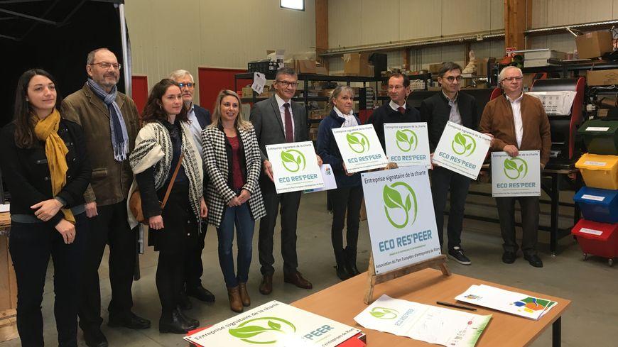 17 entreprises du Parc Européen de Riom ont signé la charte Eco Res'peer.