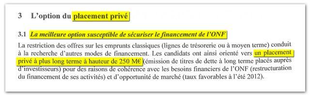 Extrait du compte rendu du conseil d'administration de l'ONF du 21 septembre 2012..