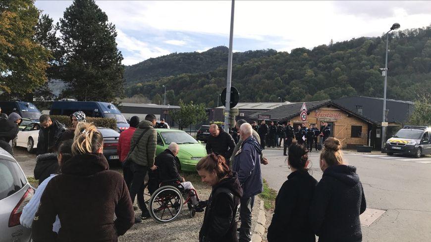 La famille était attendue par les gendarmes
